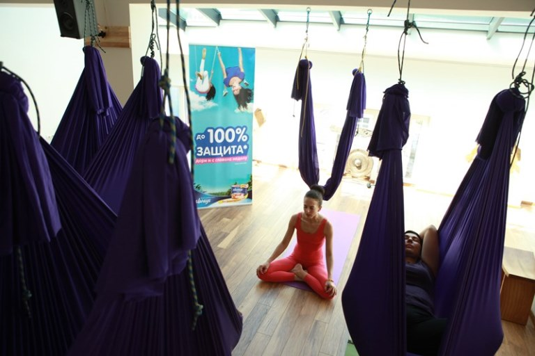 Aero yoga relaxirane